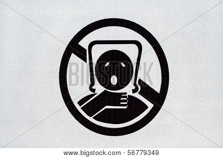 Warning Sign On Plastic Bag
