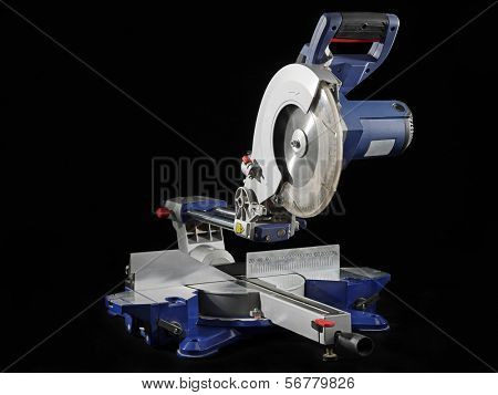 Sliding Compound Mitre Saw shot on black background