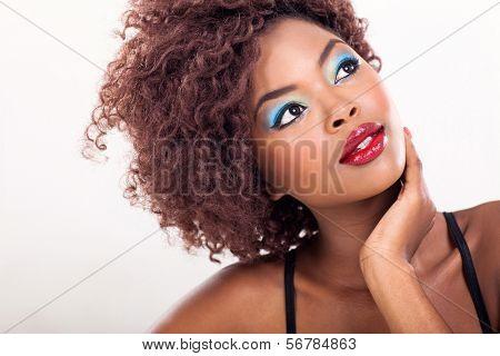 african american female beauty closeup
