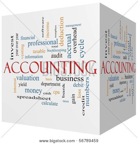Accounting Cube Word Cloud Concept