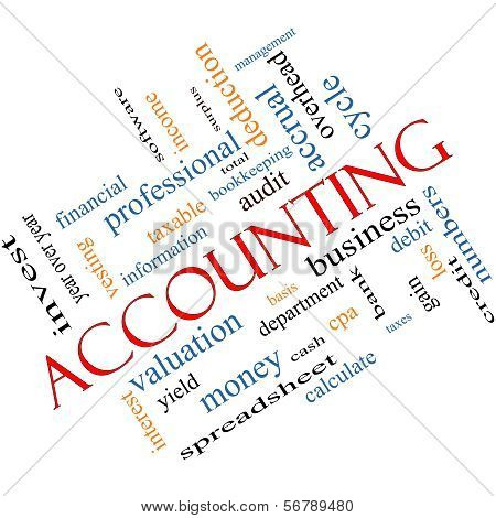Accounting Word Cloud Concept Angled