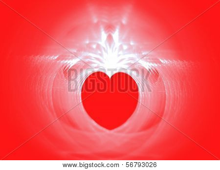 Valentine on a red background