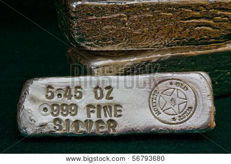 Stamped Silver Bullion Bars - Poured Ingots