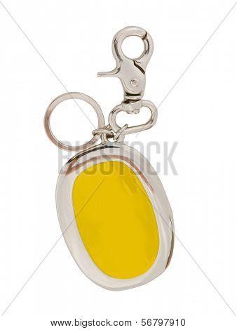 yellow bibelot isolated on white