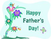 Here is a loving greeting of Happy Father's Day! poster