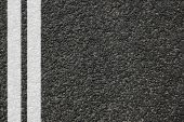 road street or asphalt texture with lines poster