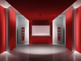 Red media room