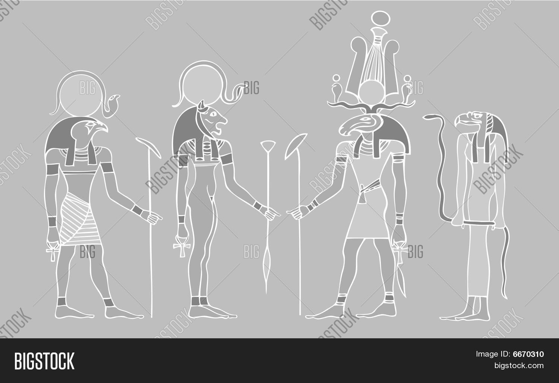 Egyptian Gods Symbols Vector Photo Free Trial Bigstock