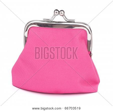 Glamour purse isolated on white background cutout