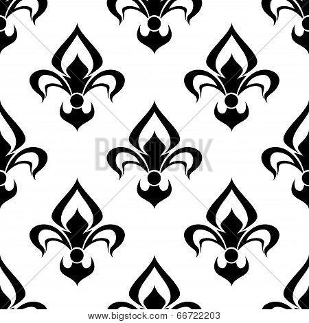 Modern fleur de lys background seamless pattern