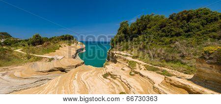 SIdari on the island of Corfu Greece
