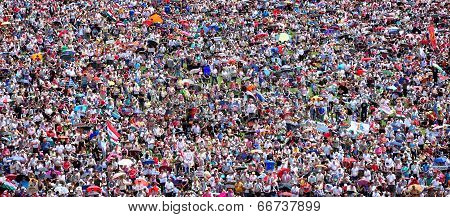 Crowd Of People Background