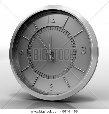 Chrome Watch Isolated On White
