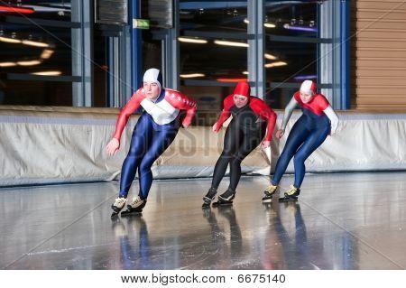Three Speed Skaters