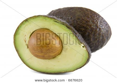 Cut avocado with pit