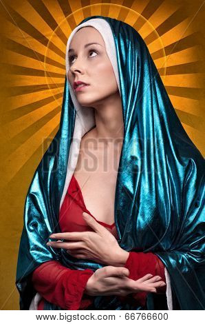Virgin Mary With Sun Rays