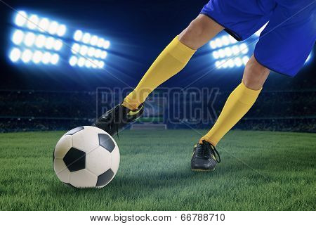 Soccer Player Kicking The Ball 1