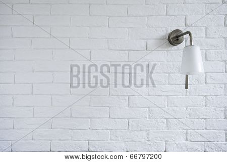 White Misty Brick Wall Background Or Texture With Turn Off Bra
