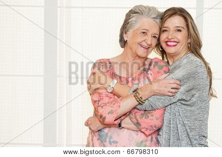 Elder mother and daughter