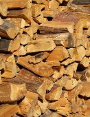 Stack of Fire Wood  poster