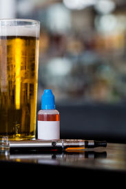 Beer, E-juice And Personal Vaporizer