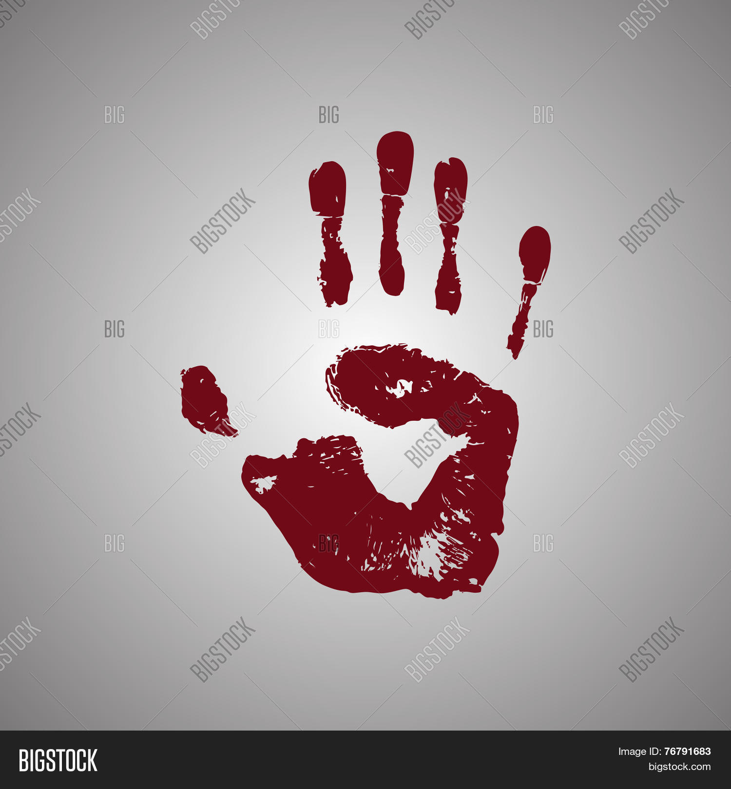 Bloody Handprint Vector & Photo (Free Trial) | Bigstock
