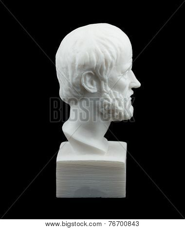 Greek philosopher Aristotle sculpture