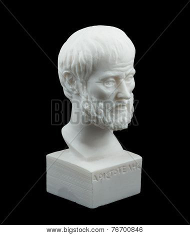 Greek philosopher Aristotle sculpture