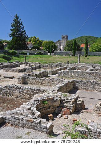 The Extensive Roman Ruins At Vaison-la-romaine, Provence, France