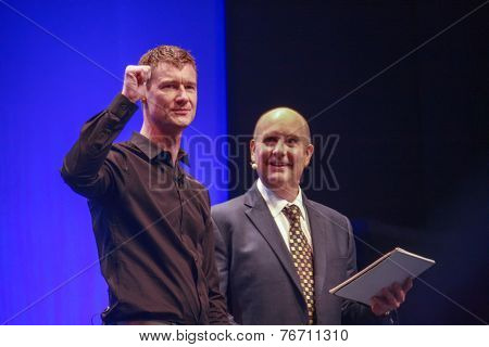 Berlin, Germany - November 11, 2014: Sap Head Of Products And Innovation Technology Bjorn Goerke (le