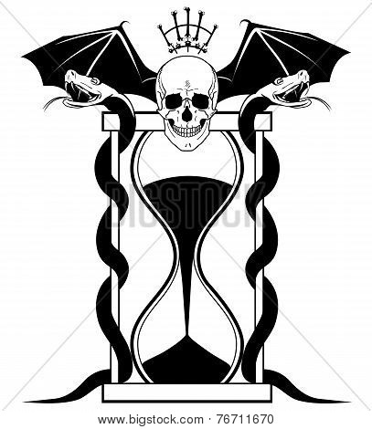 Sandglass And Skull