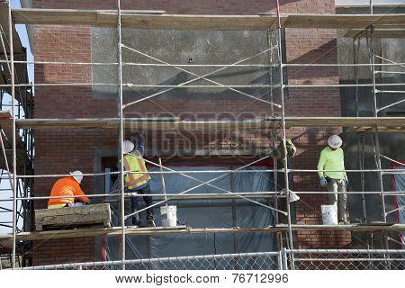 Workmen on Scaffolding