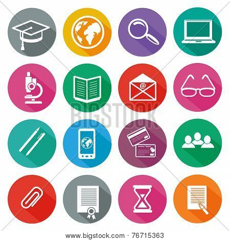Icon set for professional training and elearning