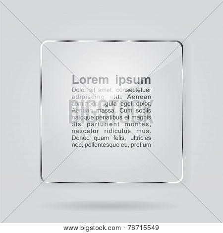 Glass framework on gray background. Vector