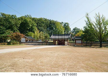Paju, Korea - October 05, 2014: Entrance Of Bangujeong