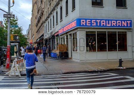 Famous diner in Manhattan