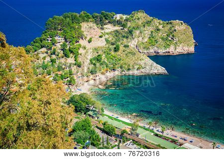 Left Side Of The Beach Named Isola Bella