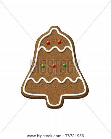 Gingerbread Bell Christmas Cookie