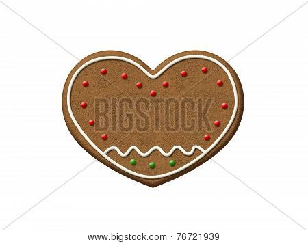 Gingerbread Heart Christmas Cookie