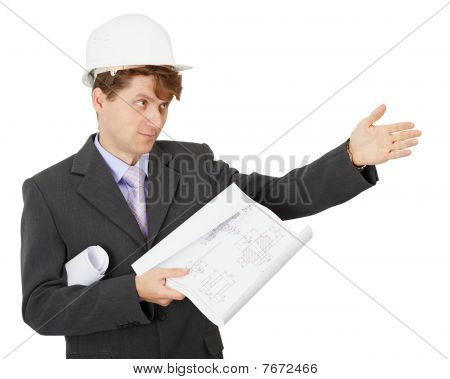 Engineer - Builder Shows Direction
