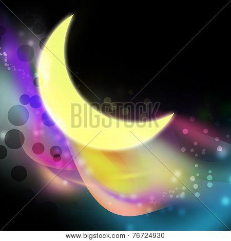 Moon And Aura Illustration