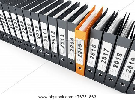 office folders new year 2015 on a white background poster