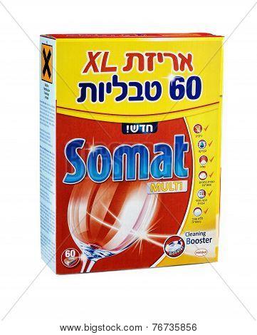 Carton Box Of Somat Multi Dishwasher Tablets 60Psc