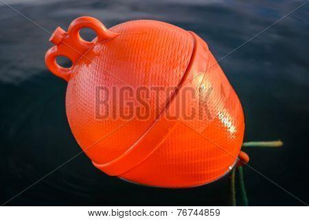 Plastic Orange Boat Buoy