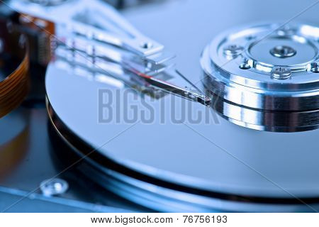 hard disk drive macro background