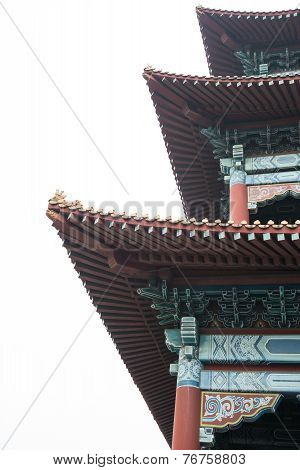 Roof Of A Traditonal Chinese Temple