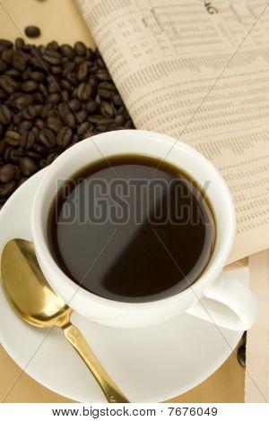 Bebida de cafeína & diario