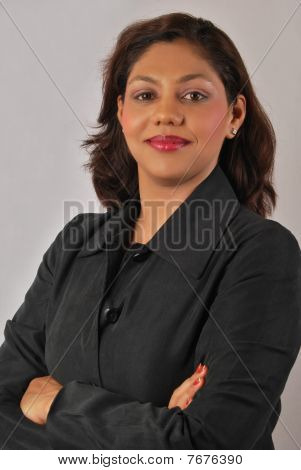 portrait of successful indian business woman