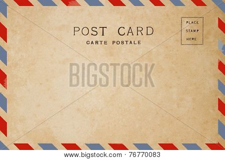 Airmail style of back side blank postcard. poster