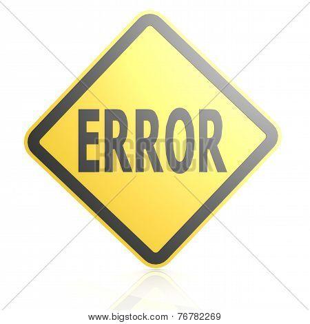 Error Sign Board